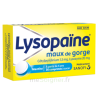 LysopaÏne Comprimés à Sucer Maux De Gorge Sans Sucre 2t/18 à JOUE-LES-TOURS