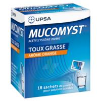 MUCOMYST 200 mg Poudre pour solution buvable en sachet B/18 à JOUE-LES-TOURS