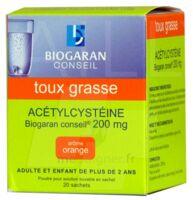 ACETYLCYSTEINE BIOGARAN CONSEIL 200 mg Pdr sol buv en sachet B/20 à JOUE-LES-TOURS