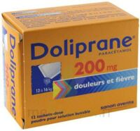 DOLIPRANE 200 mg Poudre pour solution buvable en sachet-dose B/12 à JOUE-LES-TOURS