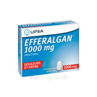 Efferalgan 1000 mg Comprimés pelliculés Plq/8 à JOUE-LES-TOURS