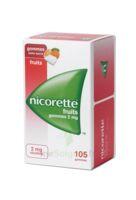 Nicorette 2 mg Gomme à mâcher médicamenteuse sans sucre fruits Plq/105 à JOUE-LES-TOURS