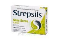 Strepsils Citron Sans Sucre, Pastille édulcorée à L'isomalt, Au Maltitol Et à La Saccharine Sodique à JOUE-LES-TOURS