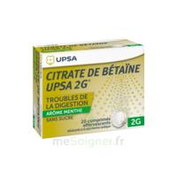 Citrate de Bétaïne UPSA 2 g Comprimés effervescents sans sucre menthe édulcoré à la saccharine sodique T/20 à JOUE-LES-TOURS