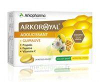 Arkoroyal Propolis Pastilles adoucissante gorge guimauve miel citron B/24 à JOUE-LES-TOURS
