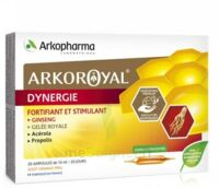 Arkoroyal Dynergie Ginseng Gelée royale Propolis Solution buvable 20 Ampoules/10ml à JOUE-LES-TOURS