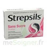 Strepsils Fraise Sans Sucre, Pastille édulcorée à L'isomalt, Au Maltitol Et à La Saccharine Sodique à JOUE-LES-TOURS