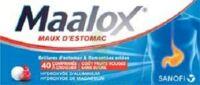 MAALOX MAUX D'ESTOMAC HYDROXYDE D'ALUMINIUM/HYDROXYDE DE MAGNESIUM 400 mg/400 mg SANS SUCRE FRUITS ROUGES, comprimé à croquer édulcoré à la saccharine sodique, au sorbitol et au maltitol à JOUE-LES-TOURS