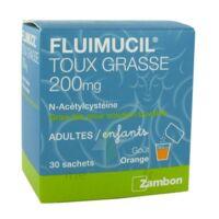 FLUIMUCIL EXPECTORANT ACETYLCYSTEINE 200 mg SANS SUCRE, granulés pour solution buvable en sachet édulcorés à l'aspartam et au sorbitol à JOUE-LES-TOURS