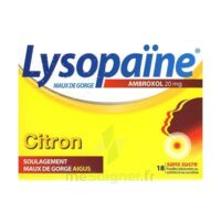 LysopaÏne Ambroxol 20 Mg Pastilles Maux De Gorge Sans Sucre Citron Plq/18 à JOUE-LES-TOURS