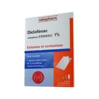 DICLOFENAC RATIOPHARM CONSEIL 1 %, emplâtre médicamenteux à JOUE-LES-TOURS