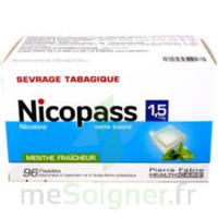 Nicopass 1,5 mg Pastille sans sucre menthe fraîcheur Plq/96 à JOUE-LES-TOURS