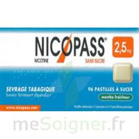 Nicopass 2,5 mg Pastille menthe fraîcheur sans sucre Plq/36 à JOUE-LES-TOURS