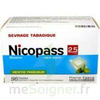 Nicopass 2,5 mg Pastille menthe fraîcheur sans sucre Plq/96 à JOUE-LES-TOURS