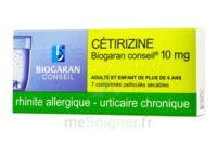 CETIRIZINE BIOGARAN CONSEIL 10 mg, comprimé pelliculé sécable à JOUE-LES-TOURS