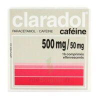 CLARADOL CAFEINE 500 mg/50 mg, comprimé effervescent à JOUE-LES-TOURS