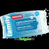 Assanis Family Lingette antibactérien mains Pochette/64 à JOUE-LES-TOURS