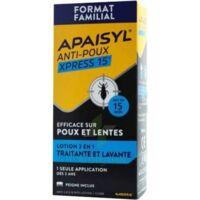 Apaisyl Anti-poux Xpress 15' Lotion antipoux et lente 100ml+peigne à JOUE-LES-TOURS
